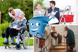 Nicht nur ein Hausnotruf sondern auch Helfer erleichtern Ihnen den Altag im Alter